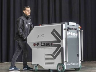 Trolley laser cleaning systems